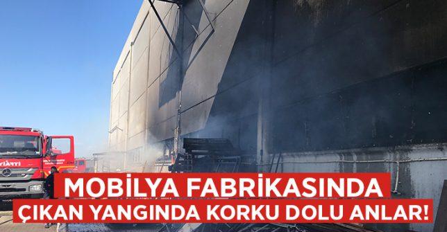 Manisa'da mobilya fabrikasında korkutan yangın!