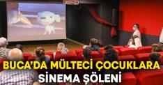 Buca'da mülteci çocuklara sinema şöleni