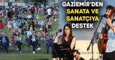 Gaziemir'den sanata ve sanatçıya destek