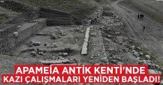 Apameia Antik Kenti'nde kazı çalışmaları yeniden başladı!