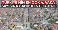 Türkiye'nin en çok 4. vaka sayısına sahip kenti Ege'de!