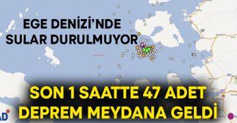 Ege Denizi'nde sular durulmuyor! Son 1 saatte 47 adet deprem meydana geldi