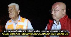 Kozağaç ve Menteşe'de oturan hemşerilerime söylemek istiyorum belki de belli bir saatten sonra boşaltma kararı çıkabilir!
