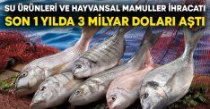 Su ürünleri ve hayvansal mamuller ihracatı son 1 yılda 3 milyar doları aştı