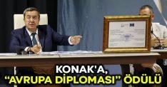 """Konak'a, """"Avrupa Diploması"""" ödülü"""