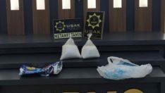 Uşak'ta 1 milyon TL'lik metamfetamin ele geçirildi